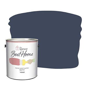 Navy blue paint with The Spruce Best Home bucket in the corner. photo