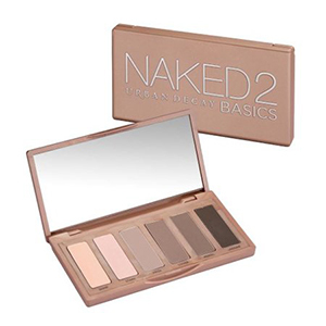 Urban Decay Naked 2 Basics Eyeshadow Palette with six different shades photo