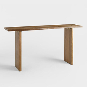 World Market wooden console table photo
