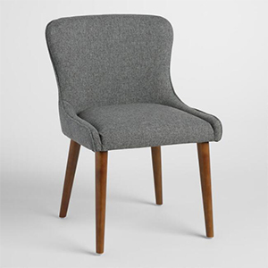 Set of two wingback upholsetered chairs from World Market photo