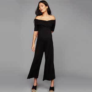 Pea in the Pod Formal Black Maternity Jumpsuit photo
