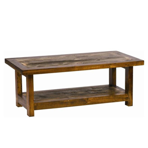 Rustic wood coffee table. photo