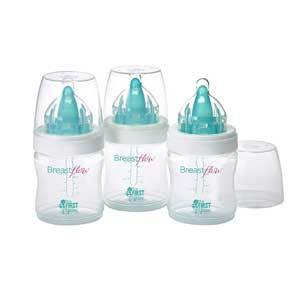 The First Years 3-Pack Breastflow Baby Bottle photo