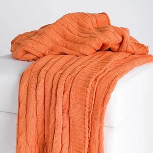 Orange cable knit throw blanket from Target photo