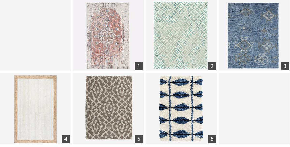 Collage of area rugs photo