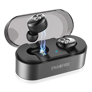 ENACFIRE wireless earbuds inside a charging case. photo