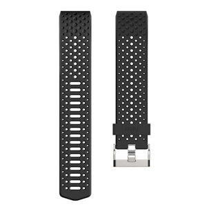 Black sport band for the Fitbit Charge 2 activity tracker. photo