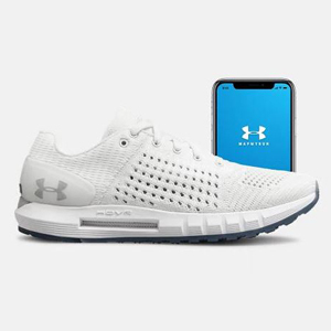White Under Armour shoes that connect to your smartphone. photo