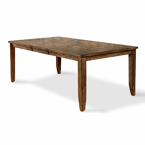 Brown wood dining table that expands photo