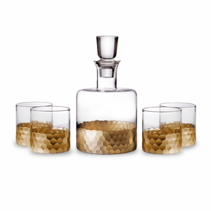 Whiskey set with four tumblers and a decanter photo