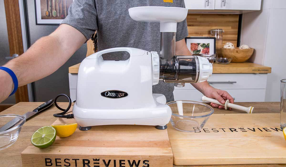 Omega Masticating Juicer in the BestReviews test kitchen photo
