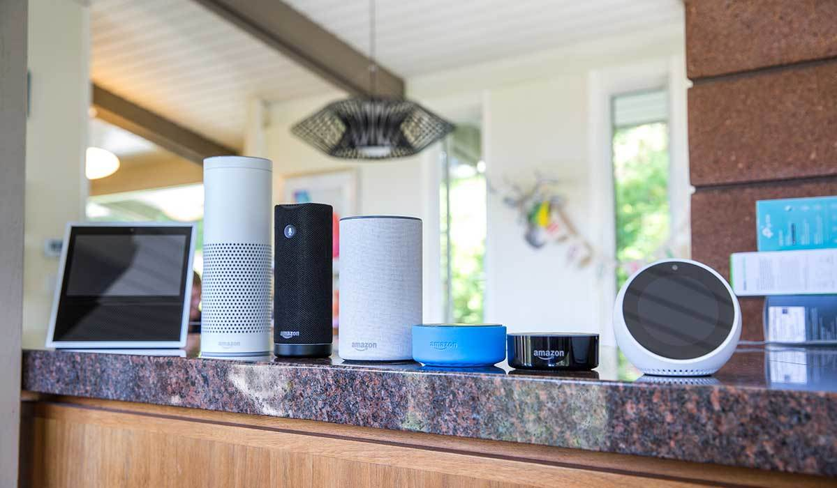Amazon smart home devices inlcuding the Echo and Echo Dot photo