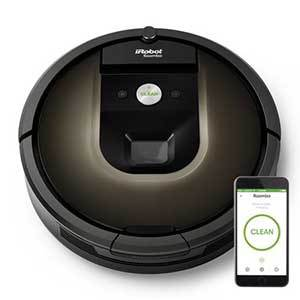 iRobot Roomba Robot Vacuum with smartphone to show wi-fi compatibility photo