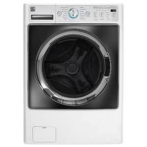 Kenmore washer/dryer combo in white photo
