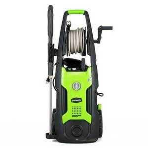 Electric Pressure Washer in green by Greenworks photo