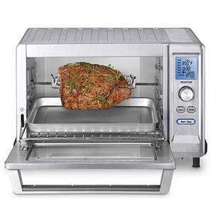 Cuisinart Convection Toaster Oven with a rotisserie chicken inside photo