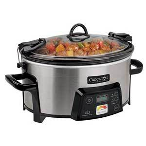 Crock-Pot 6-Quart Programmable Slow Cooker in stainless steel finish photo