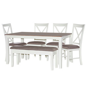 Mary Jane farmhouse six piece dining set from Houzz in white photo