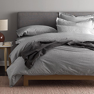 The Home Depot duvet cover in gray photo