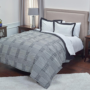The Home Depot houndstooth three-piece bedding set photo