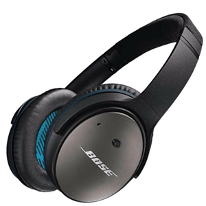 Bose Noise Canceling Headphones in black from Overtstock. photo