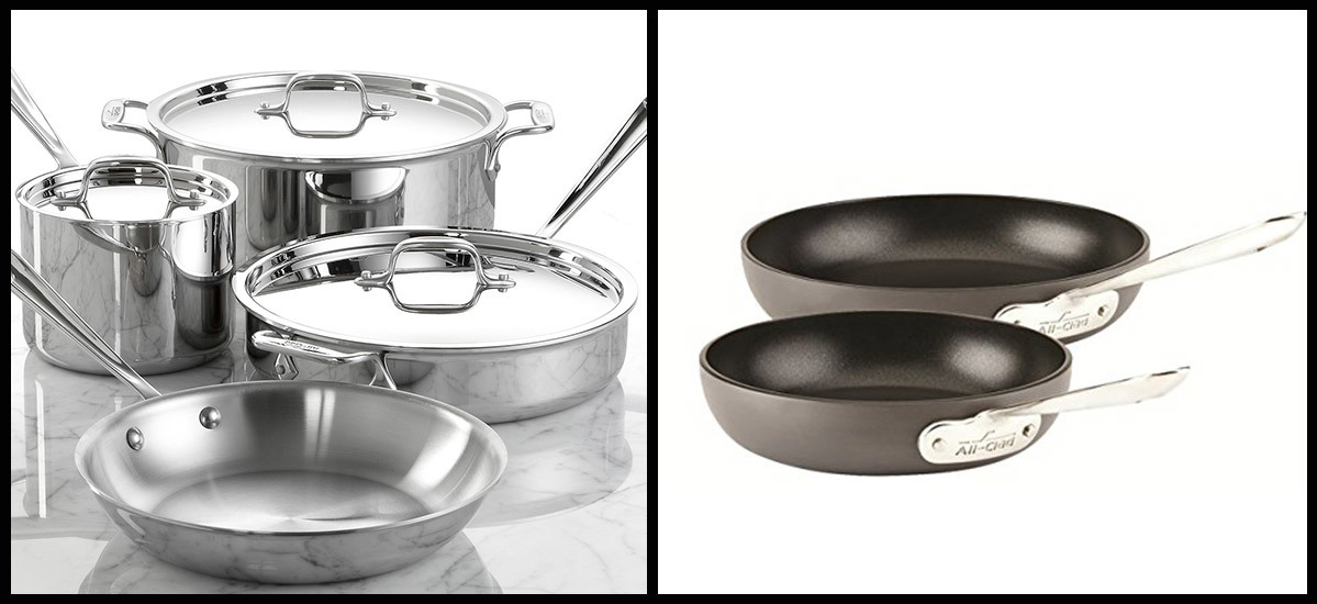 All-Clad cookware set and skillets photo