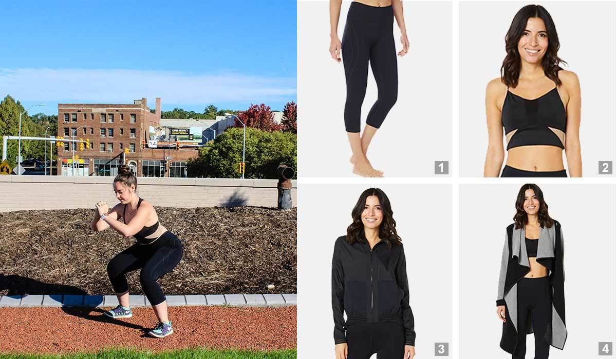 Collage of SHAPE Activewear products for fall. photo