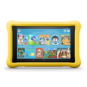Fire HD 8 Kids Edition Tablet in yellow photo