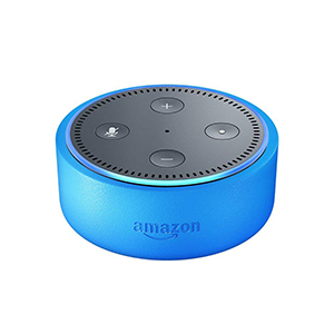 Amazon Echo Dot Kids Edition in blue photo