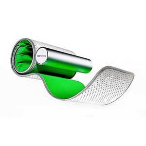 Green and silver wireless blood pressure monitor photo