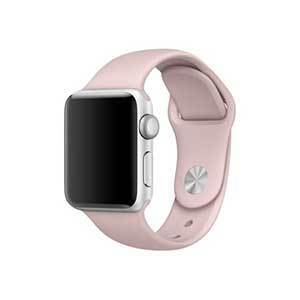 Apple Watch with a blush pink sport band photo