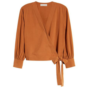 Everlane Silk Wrap Top at Nordstrom photo