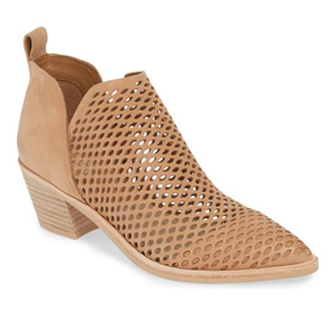 Dolce Vita perforated bootie in tan photo