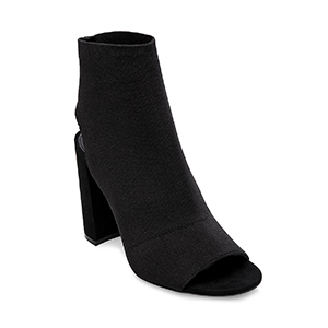Lord and Taylor booties in black with a block heel photo