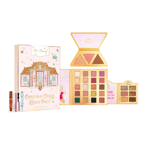 Too Faced holiday collection with eyeshadow palettes, a face palette, and three travel-size products at Sephora photo