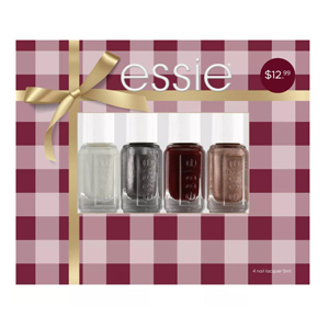 Essie Holiday Collection exclusively at Target with four different nail polishes photo