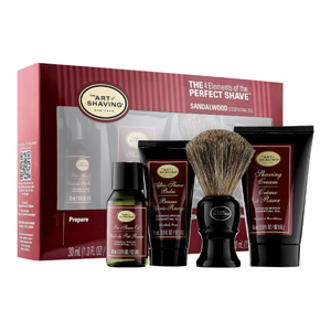 The Art of Shaving gift set with pre-shave oil, shaving cream, shaving brush, and after-shave balm photo