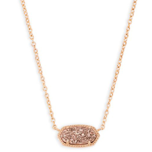 Elisa pendant necklace by Kendra Scott in rose gold. photo