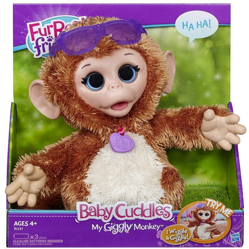 FurReal Friends Baby Cuddles My Giggly Monkey Pet Plush photo