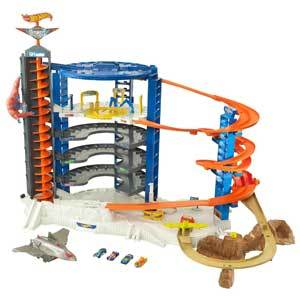 orange and blue Hot Wheels Super Ultimate Garage Pterodactyl Play Set from Walmart photo