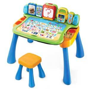 colorful Vtech Explore and Write Activity Desk from Walmart photo