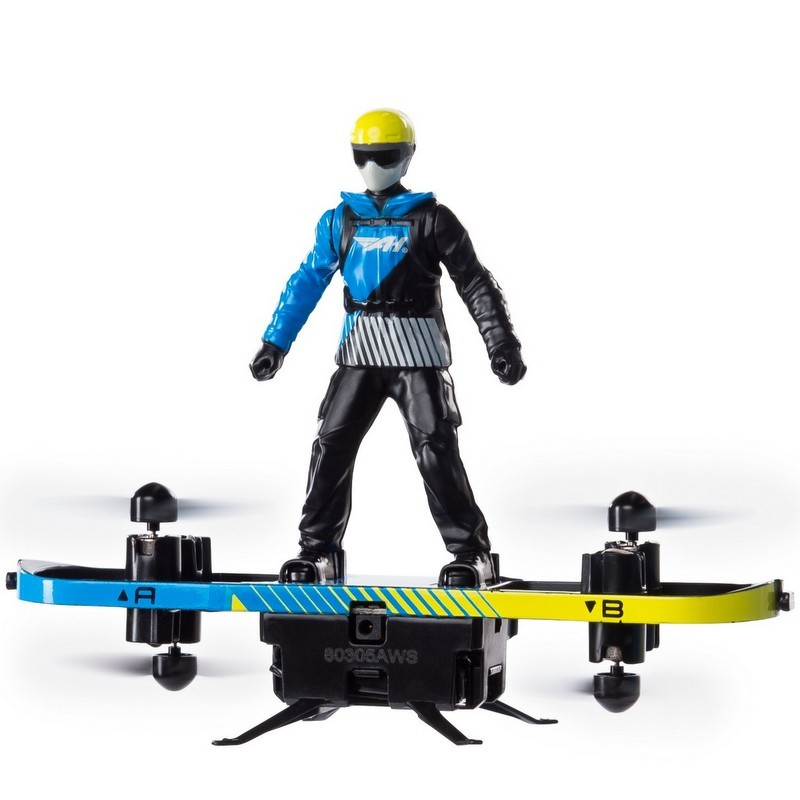 blue and yellow Air Hogs Transformable Extreme Air Board Paraglider from Target photo