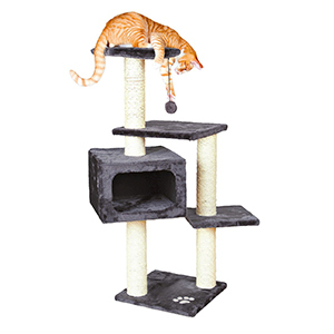 Multi-level cat tree with a bed. photo