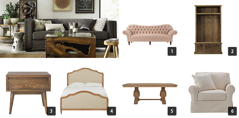 A collage of six of The Home Depot's Cyber Monday Sale Furniture photo