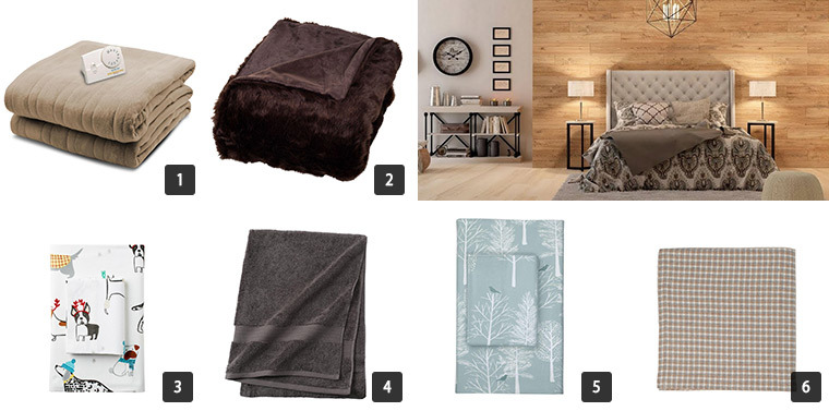 A collage of six photos with The Home Depot's Cyber Monday Sale on Bedding and Bath photo