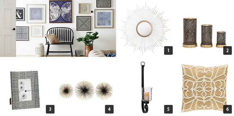Collage of six photos of The Home Depot's Cyber Monday Sale on Home Decor photo