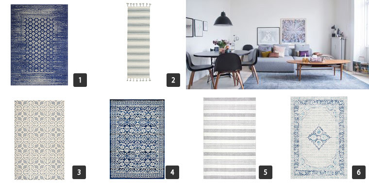 Collage of six images of Houzz Cyber Monday Sale on Rugs photo
