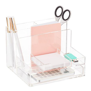 Small acrylic desk organizer from The Container Store photo