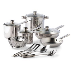 Tools of the Trade Stainless Steel 13-Pc. Cookware Set Macy's Black Friday Sale photo