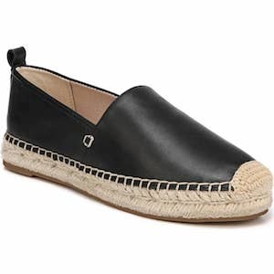 Sam Edelman black leather espadrille Nordstrom Cyber Monday Sale photo
